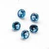 Synteettinen Kirkas Sininen kivi, Pyöreä, 5mm, 2kpl, (huom. kuvassa useampia kiviä)