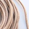 Nauha, aitoa nahkaa, vaalea ruskea (natural), karhea pinta, 2mm, pyöreä, TUKKUPAKKAUS, 8m