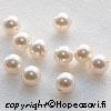 *Tarjous* Kerman valkoinen helmi, kristallia, helmipinnoite, puoliväliin porattu, 6mm, 1 kpl