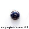*Poistomyynti, huom. kiven reunassa epätasaisuutta* Lapis (Tumman sininen), kapussi, pyöreä, 8mm, 1 kpl