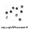 Synteettinen Harmaavihreä kivi, pyöreä, 2mm, 10 kpl