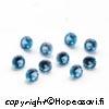 Synteettinen Kirkas Sininen kivi, pyöreä, 3mm, 5 kpl