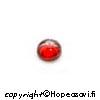 Kuutiollinen Zirkonia, Garnetti, tasainen tausta, kapussi, pyöreä, 4mm, 2 kpl