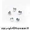 Kuutiollinen Zirkonia, valkoinen (kirkas), Sydämen muotoinen, 3x3mm (5kpl)