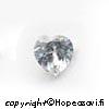 Kuutiollinen Zirkonia, valkoinen (kirkas), Sydämen muotoinen, 7x7mm (1kpl)