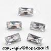 Kuutiollinen Zirkonia, valkoinen (kirkas), Suorakulmainen, 6x3mm, 2 kpl