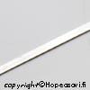 *Poistomyynti -huom mitta* Hopeanauha 999, litteä, 2mm x 0.3mm, 7cm