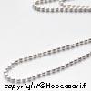 Hopeaketju, pieniä pallohelmiä (1.5mm), sterling hopeaa 925, pituus 40 cm