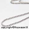 Hopeaketju, pieniä pallohelmiä (1.5mm), sterling hopeaa 925, pituus 50cm