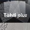 "Muotoiluun: Tekstuurilevyjä 4 kpl, muovia, MINI (noin 7x5cm), ""TÄHTI plus"""