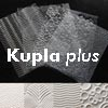 "Muotoiluun: Tekstuurilevyjä 4 kpl, muovia, MINI (noin 7x5cm), ""KUPLA Plus"""