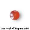 Karneoli, kapussi, pyöreä, 8mm, tumman punainen (lämmin), 1 kpl