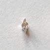 Istukka, hopea 980, 2 haaraa, pyöreälle kivelle, 2mm,*Uusi*