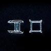 Istukka, hopea 980, neliö, nelikulmaiselle kivelle, 5mm