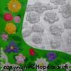 Painomuotti, Kukka-aiheinen, keski - isokokoinen, sopii myös hartsikoruille, 14x16cm (huom. kuvassa cm-ruudukko)