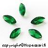 Synteettinen Emeraldi, vihreä, markiisi 8x4mm, 2kpl, poltto vain 650 C