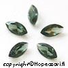 Synteettinen Harmaavihreä kivi, markiisi 8x4mm, 2 kpl