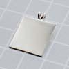 *Poistoale* Riipuslenkki, riipuksen tekemiseen, hopeoitu, neliö, keskikoko, 17x17mm, 1 kpl, OVH 2.60