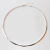 Kaulaketju, panta, hopeoitua messinkiä, moderni ja elegantti design, säädettävä, noin 36-40 cm