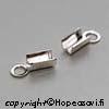 *Kesäkuun tarjous* Päätösosa nauhalle, sterling hopea 925, kiinnipuristettava -langan sopiva paksuus noin 2-3mm, 2 kpl