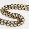 *Poistomyynti -huom mitta* Ketju, pronssinruskea (kullattu, patinoitu) messinkiä, noin 5x3mm lenkit, noin 12cm
