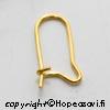 Korvakoukku, kullattua messinkiä, suljettu malli, 3 paria (6 kpl)