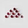 Synteettinen Garnet, punainen, pyöreä 2 mm, 10 kpl