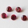 Synteettinen Garnet, punainen, pyöreä 5mm, 2kpl