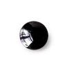 *Poistomyynti, huom. kiven kyljessä pieni (alle 0.5mm) vaalea täplä* Onyksi, Kapussi, musta, v/t, Pyöreä, 10mm, 1 kpl