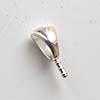 Istutettava korulenkki, suosikkimalli. silmukka, soikea, poltettavissa 999 -hopeasaven kanssa (6x4mm)