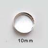 Istukka, hopea 999, sileä reuna, pyöreälle kapussille, 10mm