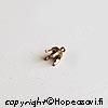 Kruunuistukka, pronssi, pyöreälle kivelle, 3mm, 4 haaraketta, istutettavissa pronssisaveen, 4kpl