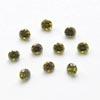 Kuutiollinen Zirkonia, oliivin vihreä, pyöreä 3mm, 10 kpl