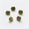 Kuutiollinen Zirkonia, Oliivin vihreä, pyöreä 4mm, 5 kpl