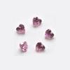 Kuutiollinen zirkonia, Pinkki, sydämen muotoinen, 3x3 mm, 2 kpl