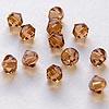 Helmi, Swarovski Crystal, Tumma Topaasi, 4mm, bicone (säihkyvä heijastus), TUKKUPAKKAUS 48 kpl