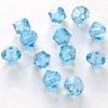 Helmi, Swarovski Crystal, Akvamariini, 4mm, bicone (säihkyvä heijastus), 8 kpl