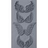 """Pintakuviointiin: Tekstuurilevy, joustavaa silikonia, 10x5cm, """"Enkelin siivet"""""""