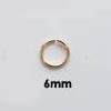 Välirengas, laadukas pronssi, pyöreä, sisämitta 5mm, ulkomitta 6.6mm, lanka 0.8mm, 10 kpl