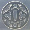 *Siivousmyynti - mallikappale* Muotti, joustavaa silikonia, noin 40x40 mm, Art Clay Exclusive, perinteinen japanilainen merkki 'Sword Guard', miekan vartija