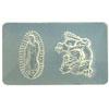 *Poistoale*Muotti, joustavaa silikonia, ulkomitta 50x30mm, mallin koko noin 20x10mm, Symbolit: ´Maria´ ja ´Lohikäärme´ OVH 10.85