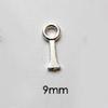 *Tarjous* Silmukka,  hopeasavikoruihin &  sulatuslasitöihin, litteä, noin 12mm (keskikoko), 2 kpl