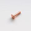Niitti, liitososa, kahden metalliosan kylmäliitokseen, kupari, noin 6x4mm, 1.3mm paksu, 10 kpl