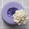 Muotti, joustavaa silikonia, kukka, Daalia, koristeellinen (noin 15x15mm)