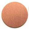 Kupari, muotopala, Ympyrä, läpimitta 25mm, paksuus 0.5mm, emalointiin tai korun osaksi, 3kpl