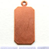 Kupari, muotopala, Suorakaide -silmukka, 25x11mm, paksuus 0.5mm, emalointiin tai korun osaksi, 3kpl