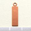 Kupari, muotopala, Suorakaide -silmukka, 17x5mm, paksuus 0.5mm, emalointiin tai korun osaksi, 3kpl