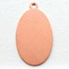 Kupari, muotopala, Soikea -silmukka, 29x16mm, paksuus 0.5mm, emalointiin tai korun osaksi, 3 kpl