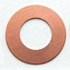 Kupari, muotopala, Kiekko -keskeltä auki, 25x13mm, paksuus 0.5mm, emalointiin tai korun osaksi, 1 kpl