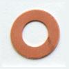 Kupari, muotopala, Kiekko -keskeltä auki, 19x10mm, paksuus 0.5mm, emalointiin tai korun osaksi, 2 kpl